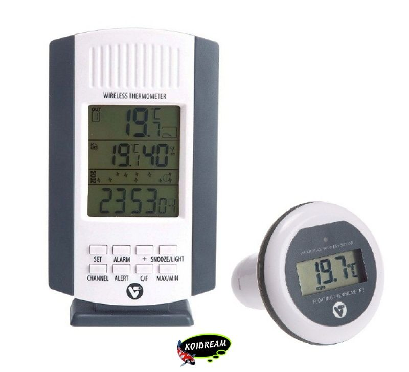 Wireless pond thermometer tropische vissen discusvissen for Fish pond thermometer