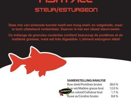 Steur voer / mix 3.0 mm 1250 ml / 775 gr.